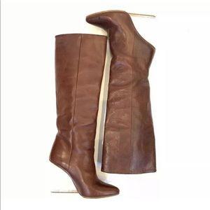 Margiela Maison H&M Lucite Wedge Boots 38